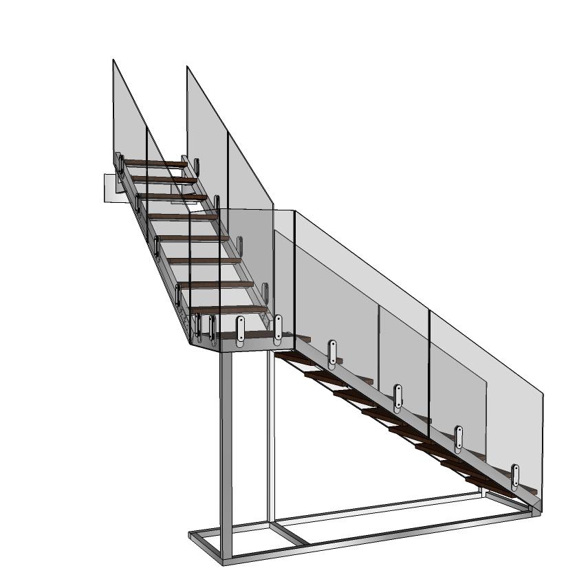 Rozsdamentes lépcső szerkezet